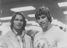 humungus:    Arnold Schwarzenegger and Kerry Von Erich