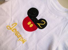 Mickey mouse t shirt and name