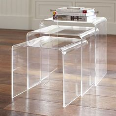 Acrylic Nesting Tables | PBteen - living room coffee table or side table (or playroom)