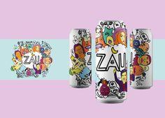 """Check out my @Behance project: """"Zău - Energy Drink. UNARTE"""" https://www.behance.net/gallery/52279209/Zau-Energy-Drink-UNARTE"""