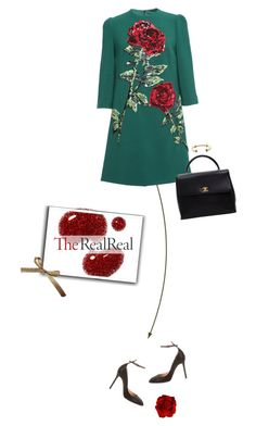 """""""#240 Holiday Sparkle With The RealReal: Contest Entry"""" by beliz-yilmazerli on Polyvore featuring Untold, Dolce&Gabbana, Valentino, Chanel and Aurélie Bidermann"""