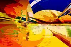 segeltoern schiff landscape panorama color ozean Landscape