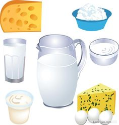 Cheese and dairy products vector material 02 free vector download