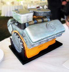 Car grooms Cake for Men | Car Engine Grooms Cake (aka the BEAST!) | Artisan Cake Company