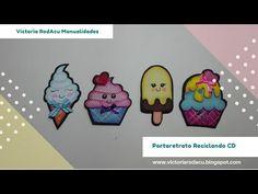 DIY Imanes Kawaii en Foamy Cupcakes Victoria RodAcu #MakeMyCraftChallenge - YouTube