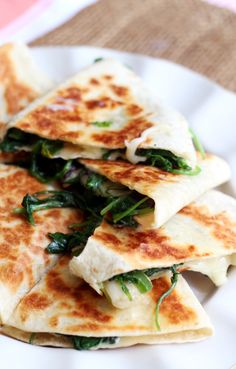 Greens, Jalapeno, and Brie Quesadillas | Joanne Eats Well With Others