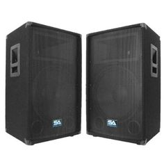 "Seismic Audio - Pair of 15"" PA DJ Speakers 700 Watts- more DJ equipment!"