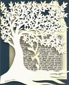 """Deborah Tepper Papercut Art """"On The Doorpost Of Your Home"""""""