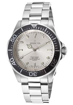 Men's Pro Diver Silver Dial Stainless Steel