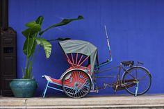 Cycle rickshaw (a very slow way to tour Penang).