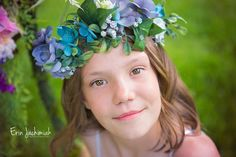 I love Flower Crowns for Photoshoots - Children's Photography - Colorado Children's Photographer - Erin Jachimiak Photography