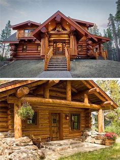 31 Indoor Woodworking Projects to Do This Winter - wood projects Blockhaus-Architektur Cabin Interior Design, Cabin Design, House Design, Log Cabin Living, Log Cabin Homes, Cabins In The Woods, House In The Woods, Small Log Cabin Plans, Casas Country