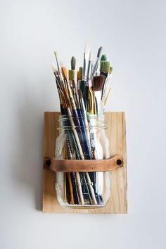 Mason Jar Pencil Holders / Storage for office supllies / Büromaterialien organisieren