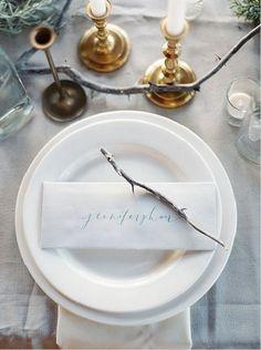 wedding calligraphy place setting
