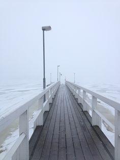 Kaivopuisto, Helsinki ja näkymä sumuiselle merelle