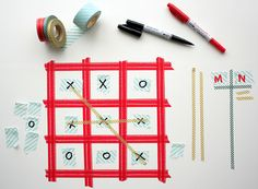 Mt Masking Tape tic tac toe by rednmercedes,