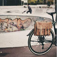 "Unsere Gusti Leder studio Fahrradtasche, Ledertasche, Bürotasche ""Marc"" NEU…"