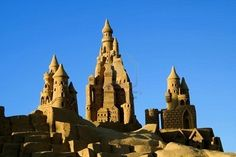 Sand castle creations in southern Portugal