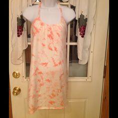 VS Bra Top Dress!!! Tie Dye Coral Victoria's Secret Bra Top Halter Dress! Great condition Worn once! Victoria's Secret Swim Coverups