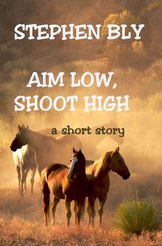 Short Story Aim Low, Shoot High by Stephen Bly. Rodeo cowboys hired to track wild horses on dangerous desert land as they search for Juanita, Hap Bowman's long lost love. Etsy PDF instant download.