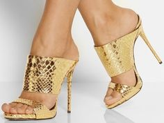 Giuseppe Zanotti Mirrored Snake-embossed Leather Slip-on Mule Gold Sandals. Get the must-have sandals of this season! These Giuseppe Zanotti Mirrored Snake-embossed Leather Slip-on Mule Gold Sandals are a top 10 member favorite on Tradesy. Save on yours before they're sold out!