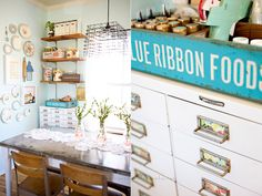 Craft Cabinet and Space by Under the sycamore   Would like to attempt this in my dining area for my creative space