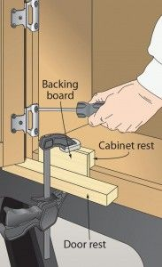 Cabinet door-hanging jig