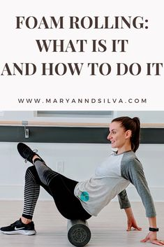 Simply put, foam rolling is a form of massage and a great way to release knots when you don't have someone else to do it for you. Workout Calendar, Workout Schedule, Workout Gear, Fun Workouts, Foam Rolling For Runners, Foam Roller Stretches, Fitness Tips, Fitness Motivation, Fitness Gear