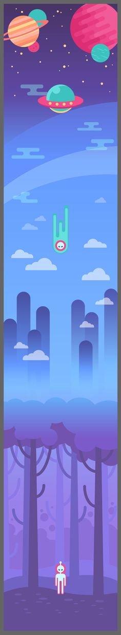 How to create a long scrolling background for a website