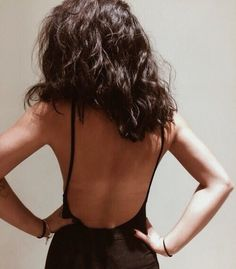 Backless goals. Dreamy black backless playsuit.