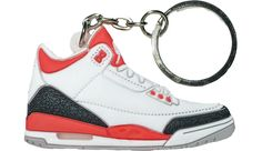 separation shoes 1b3ef 1e719 3D Sneaker Keychain · Jordan 3, Red Flats, Keychains, Air Jordans, Sneakers  Nike, Nike Tennis
