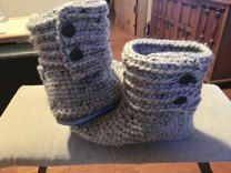 Cabin Boots With Flip Flop Soles Crochet pattern by Jess Coppom | Make and Do Crew