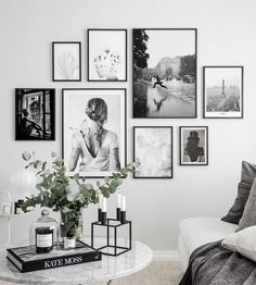 Billedvæg smuk fotokunst - Lilly is Love Room Wall Decor, Living Room Decor, Wall Decor Frames, Photo Wall Decor, Wood Frames, Inspiration Wand, Design Inspiration, Design Ideas, Design Design