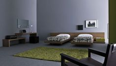 Charming Modern Teen Room Designs by Pianca : Charming Modern Teen Room Designs By Pianca With White Wooden Pallet Bed And Green Rug Design