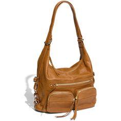 Sorial 'Bridget' Convertible Leather Hobo Tan