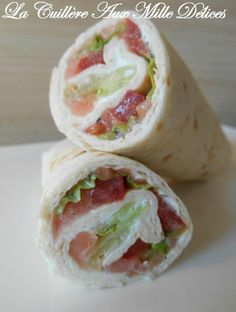 Wrap saumon fumé & crudités