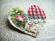 textile art hearts - Google Search