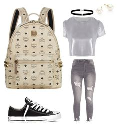 """#MCM #Allstar schoollook👟"" by ranbe on Polyvore featuring Mode, Related, Converse, MCM, Amanda Rose Collection und Majorica"