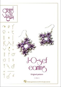 Bracelet tutorial / pattern JOsef earring with by beadsbyvezsuzsi, $11.00