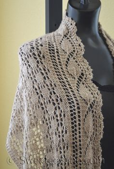 PDF Knitting Pattern for Abbot Kinney Scarf/Shawl from SweaterBabe.com
