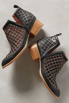 Jeffrey Campbell Cutout Black Taggart Booties