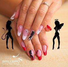 Angel & devil nails