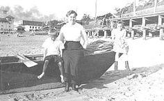 Redondo Beach family by pier early 1900's.