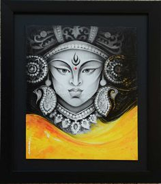 Radhika Seksaria's Supreme Acrylic on Canvas Art, Posters Durga Maa Paintings, Indian Art Paintings, Unique Paintings, Mandala Art Lesson, Mandala Artwork, Mandala Drawing, Budha Painting, Artist Painting, Watercolor Paintings For Beginners