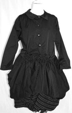 WOW-CHAMPAGNE-BLACK-LAGENLOOK-parachute-COAT-SIZE-L-XL-black