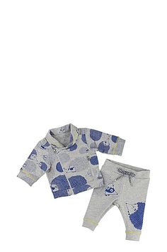 FLEECE JOGGINGS & CARDIGAN SET