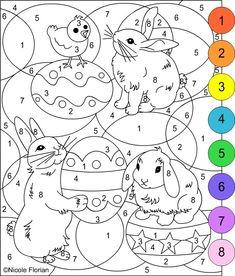 Maluj podle čísel - velikonoce