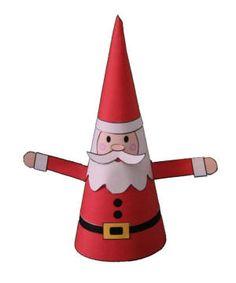 Easy Cone Santa Paper Craft