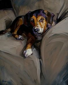 """""""Jack, Our Sweet Cracker Jack"""" by contemporary American artist Karin Jurick, his owner"""