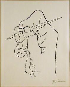 BEN SHAHN (1898-1969) HAND.
